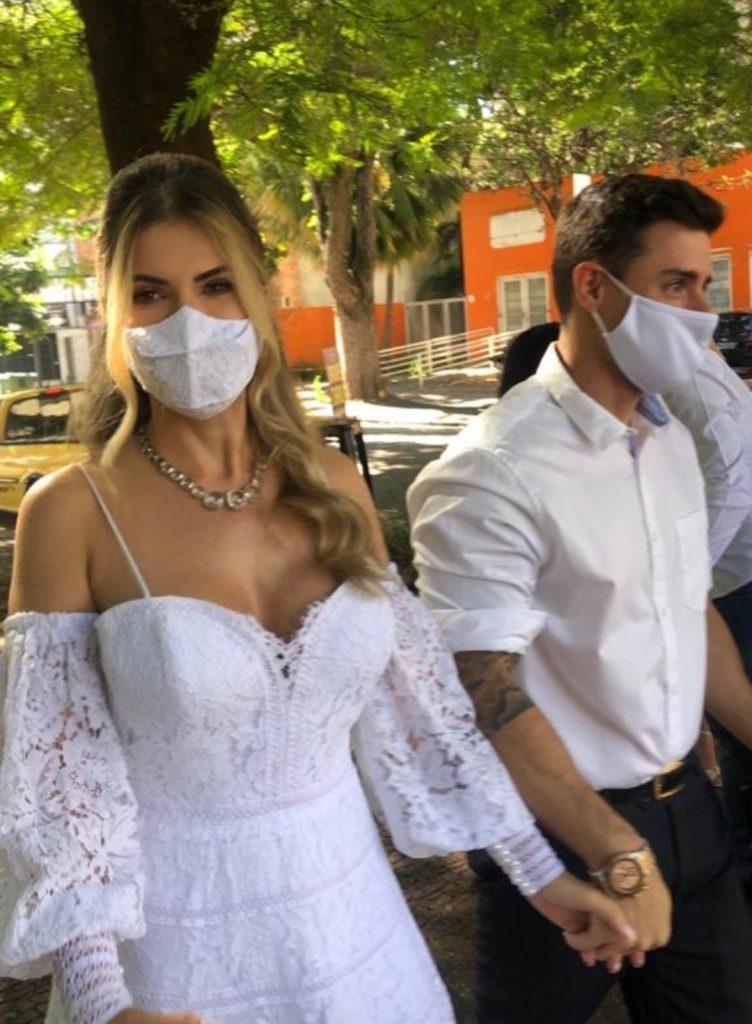 Cacau Colucci se casa com Delegado Bruno Lima