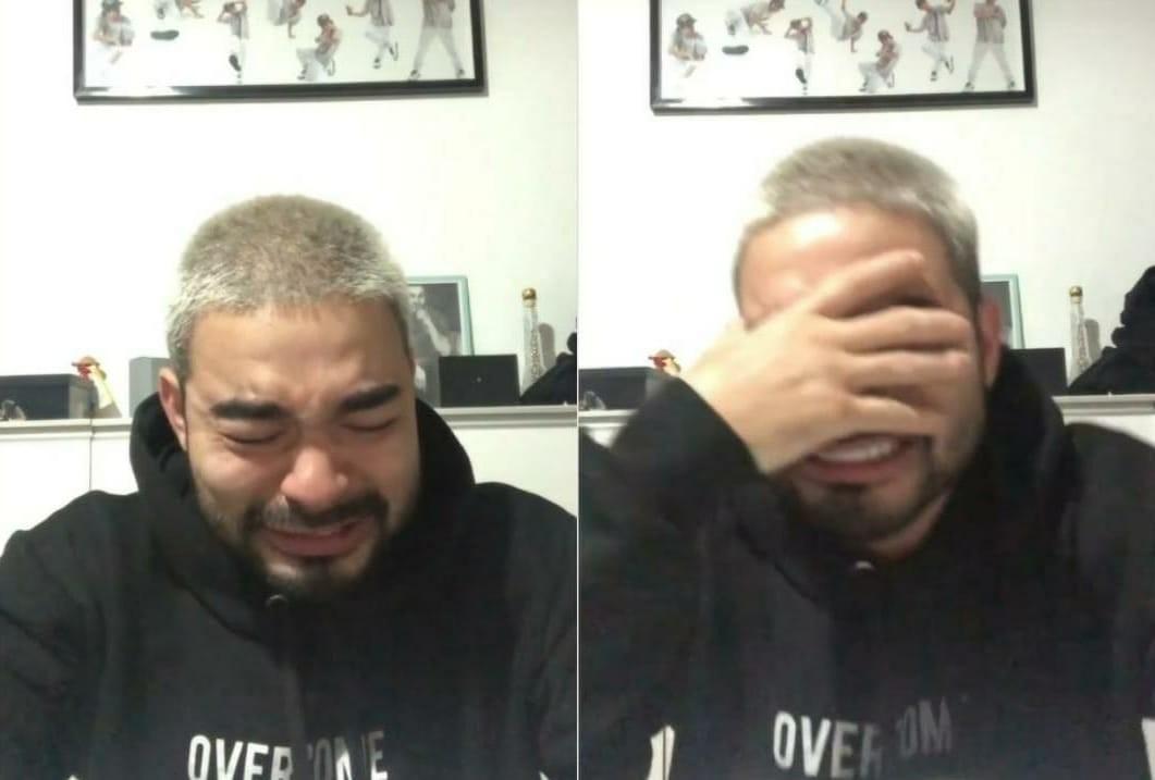 """Após internação dos pais com Covid-19, Yudi Tamashiro chora """"Desespero"""""""