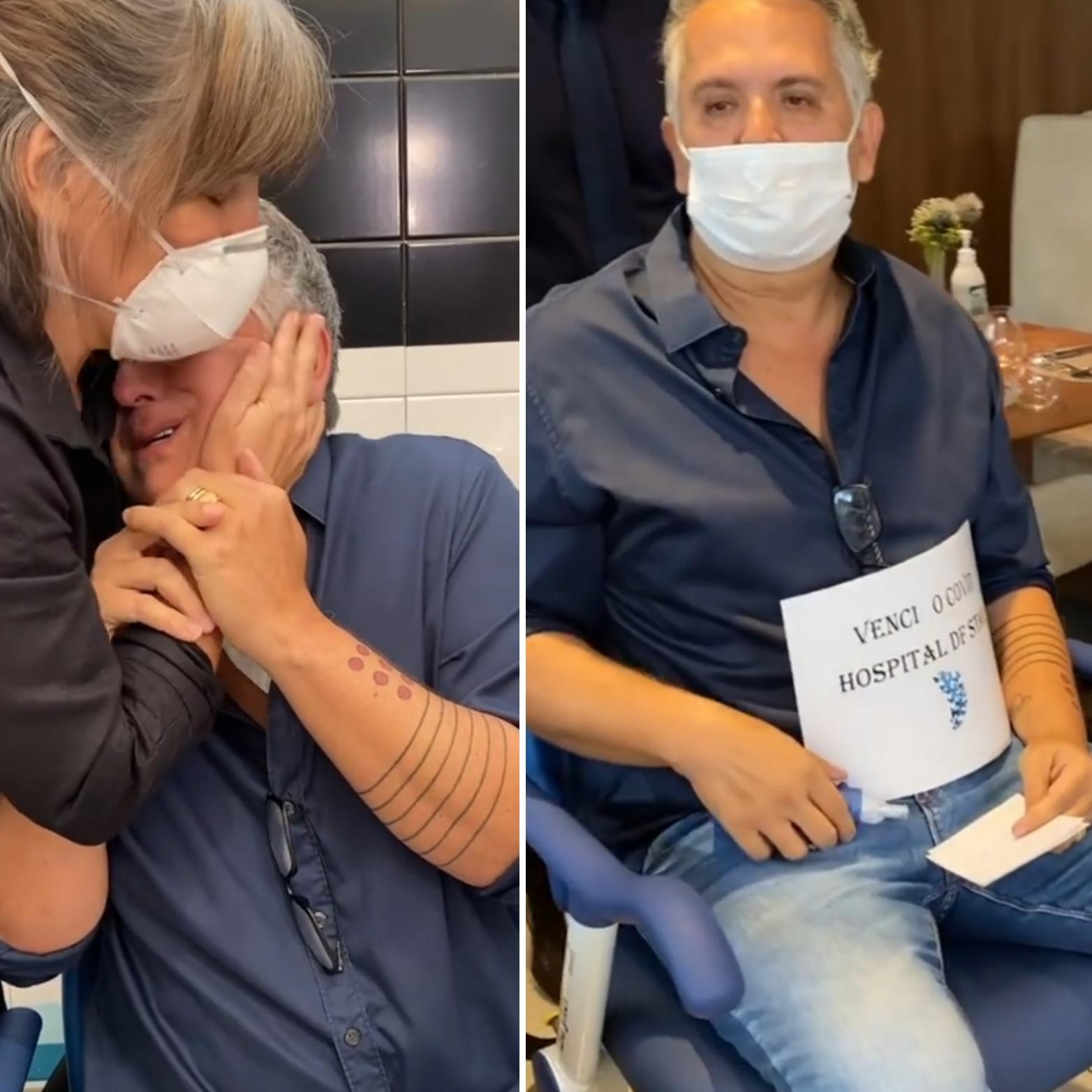 Glória Pires recepciona Orlando Morais após alta hospitalar. Veja vídeo!