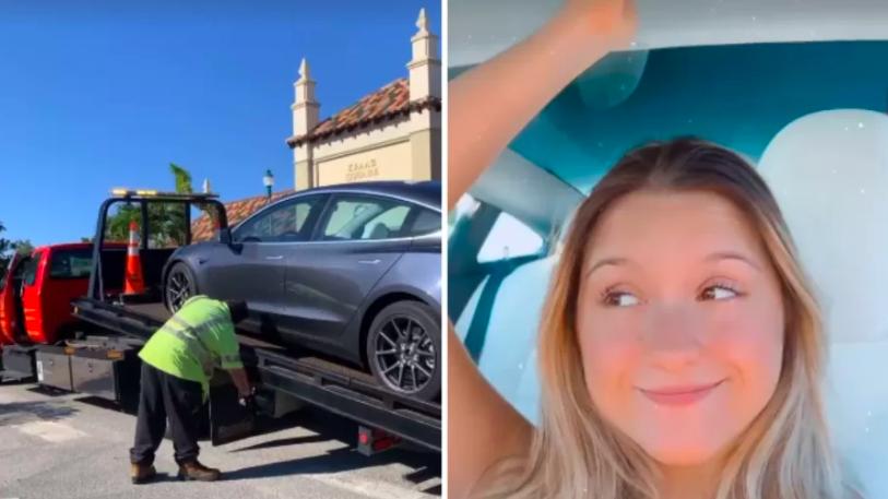 Filha de Gugu tem carro de luxo guinchado nos EUA