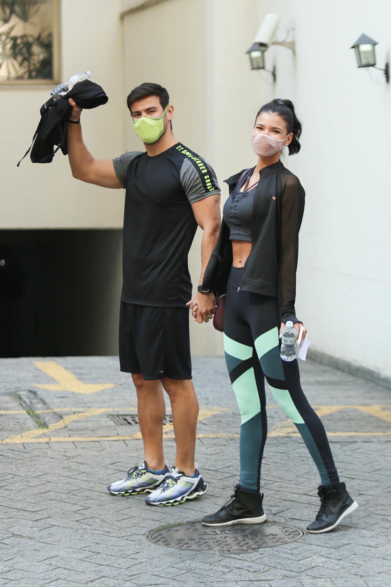 Jakelyne Oliveira e Mariano malham juntos em São Paulo
