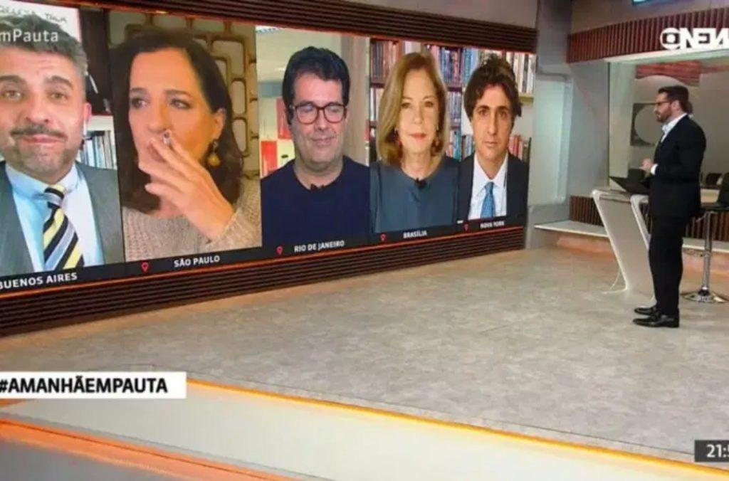 Jornalista da GloboNews fuma ao vivo durante jornal