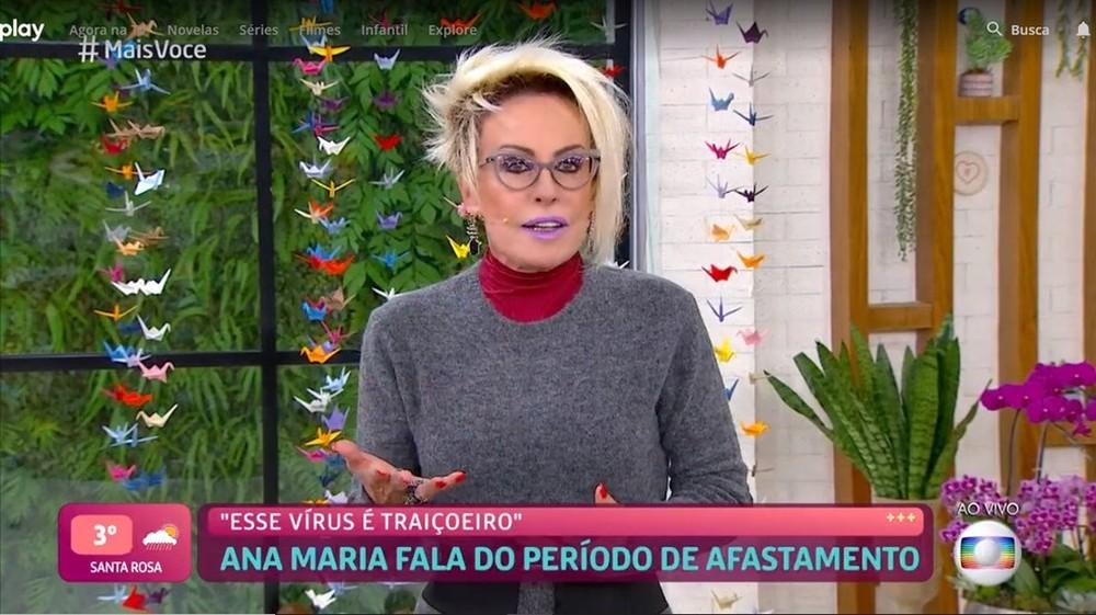 Ana Maria Braga volta ao Mais Você após Covid-19