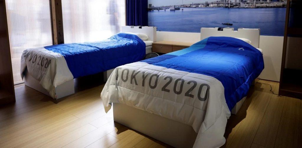 Arthur Nory mostra cama 'anti-sexo' da Vila Olímpica em Tóquio