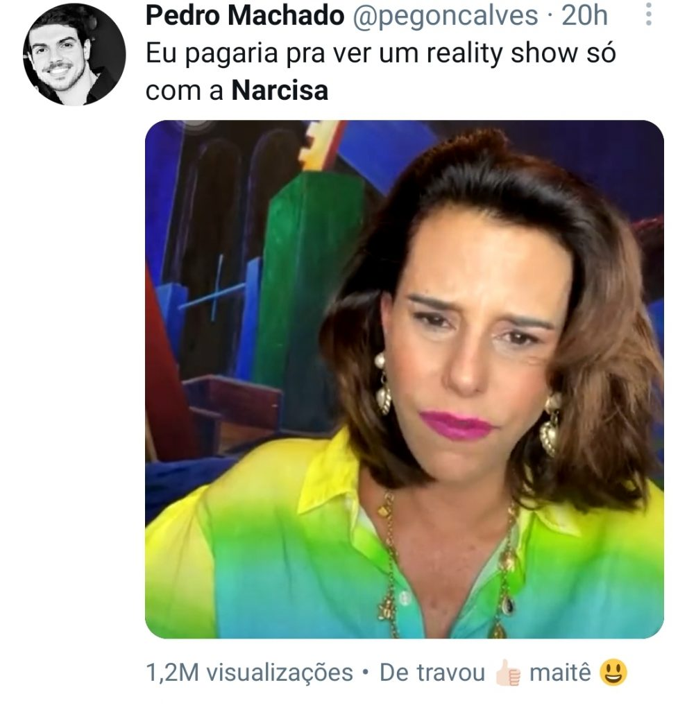 Narcisa Tamborindeguy vira meme após Maitê Proença perder conexão em live