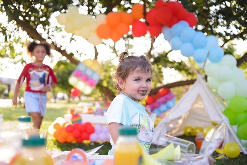 Natália Toscano então comemora Dia das Crianças com piquenique especial. Foto Gabriela Assis