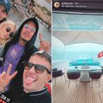 Filho de Faustão viaja por Ibiza com Jade Picon e web aposta em romance